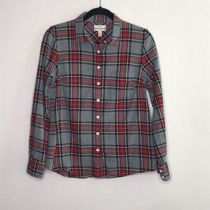 J. Crew boy shirt in gray tartan sz 6